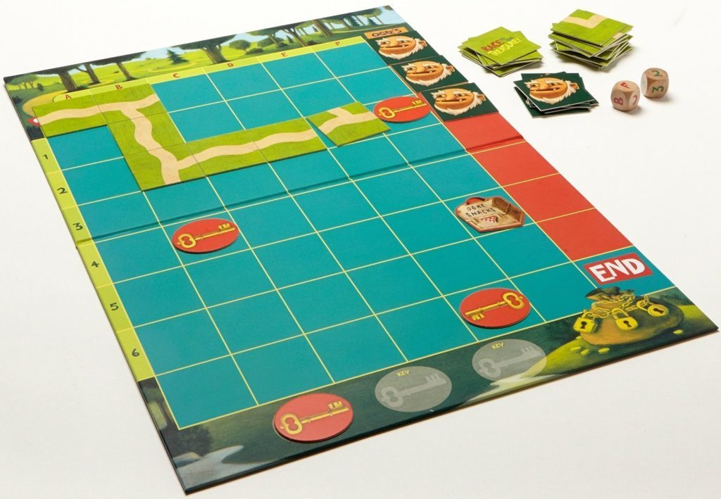 Game Board for Race to the Treasure Board Game