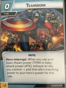 Teamwork Marvel Champions Card