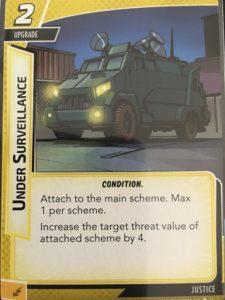 Under Surveillance Marvel Champions Card
